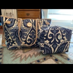 Spartina 449 tote and large cosmetic bags